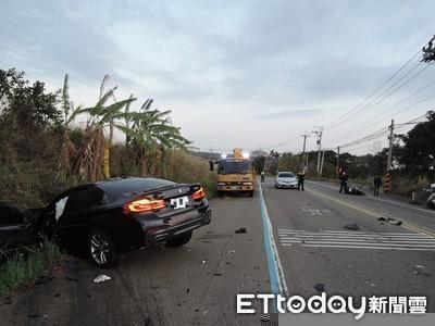 BMW大7台中試車!技師逆向撞機車 20歲男女頭部變形亡
