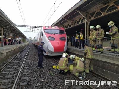 快訊/台鐵台南站旅客落軌!80歲翁遭普悠瑪撞擊…卡車底命危