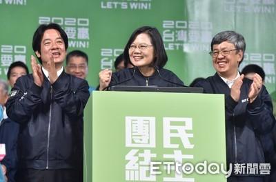 蔡英文「壓倒性勝選」連任 華盛頓郵報:香港讓台灣拒絕獨裁