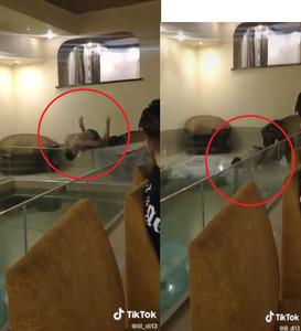 2F躍下「脖子直槓」欄杆!銀行家跳水怒撞圍牆 「慘跟玻璃碎片入水」