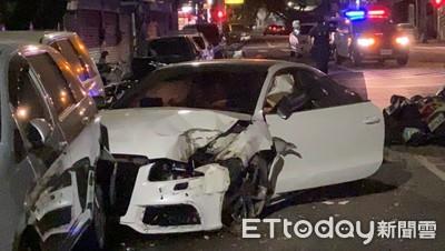 賠到脫褲了!23歲男業務借Audi A5上夜店 10杯香檳秒斷片…撞破民宅毀9車